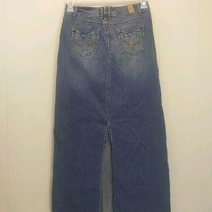 Maurices 1 2 Skirt Blue Jean Denim Long Back Slit